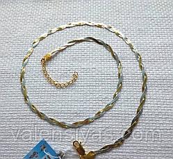 Серебряная цепочка косичка с родиевым покрытием, фото 3