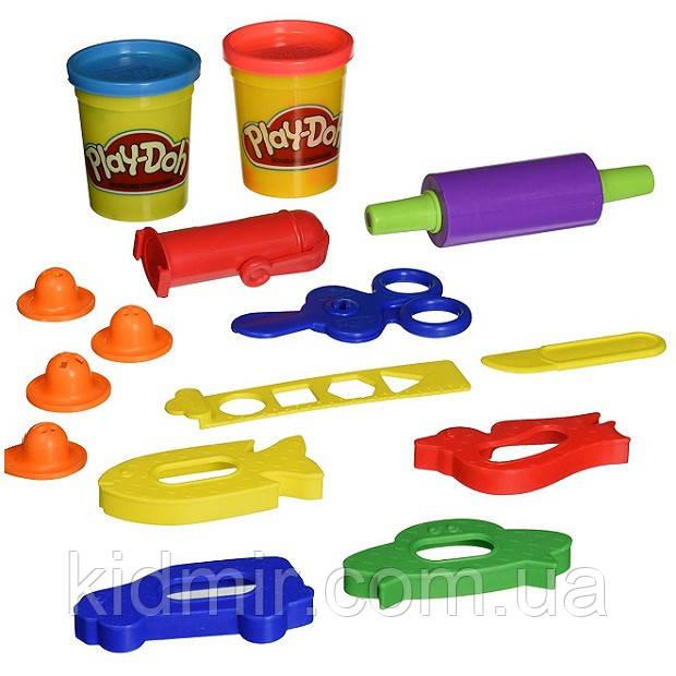 Плей-До набор пластилина с ножницами и скалкой Play-Doh Rollers, Cutters and More Playset Hasbro