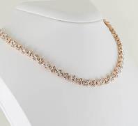Экстазное колье с кристаллами Swarovski, покрытое золотом 0905