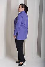 Сиреневая рубашка для полных женщин Змейка, фото 2