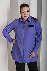 Сиреневая рубашка для полных женщин Змейка, фото 3