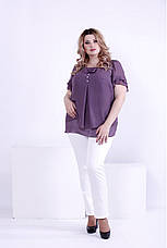 e8c3611389e5 Сиреневая шифоновая блузка больших размеров 0866