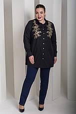 Черная красивая рубашка больших размеров Лолита, фото 2