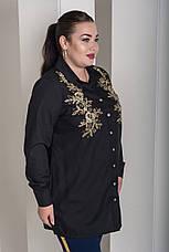 Черная красивая рубашка больших размеров Лолита, фото 3