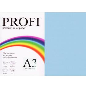 """Бумага пастельных тонов PROFI 180 (36377) голубой А3 80гр 500л """"Light  Blue"""" пастельный"""
