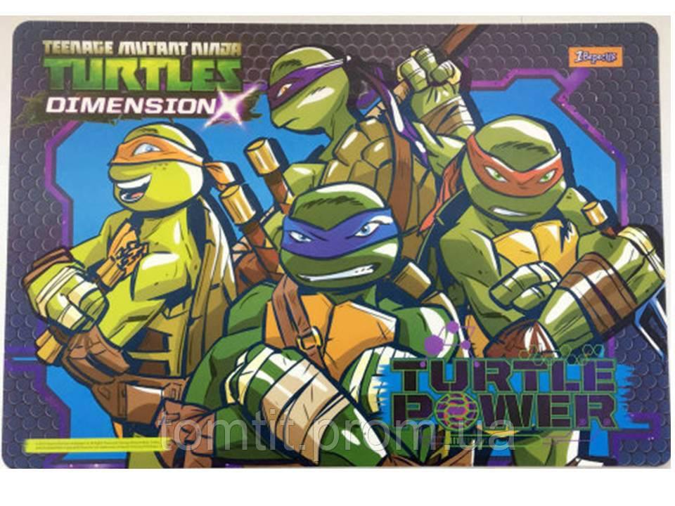 "Подложка пластиковая ""Ninja Turtles - Черепашки ниндзя"" , ТМ ""1 Вересня"""