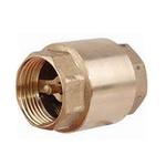 Клапан обратный муфтовый латунный подпружиненный