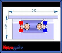 Внутрипольный конвектор Radopol KV 10 200*1250
