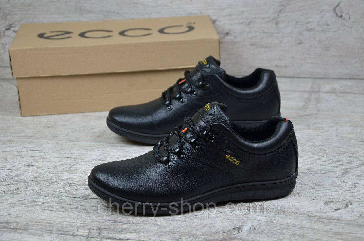 Стильные мужские кожаные кроссовки Ecco  Стильні чоловічі шкіряні кросівки  Екко - Интернет-магазин