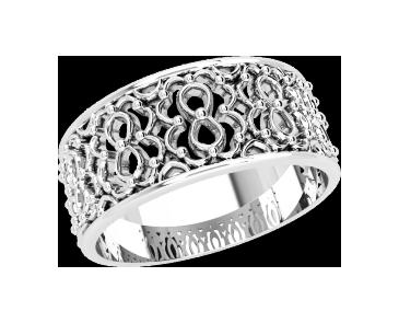 Кольцо  женское серебряное Ажурное 21214