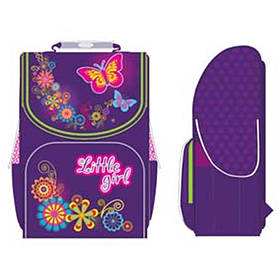 "Ранец Smart PG-11 -553013 фиолетовый 34х26х14, каркасный PG-11 ""Little Girl"", ортоп/спин, упл/дно, полиэстр"
