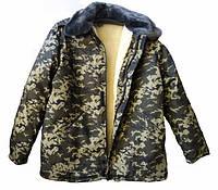 """Бушлат """"Пограничник"""" евро овчина,брюки камуфляж, полукомбезы теплые. Подарок! Полная распродажа!!!, фото 1"""