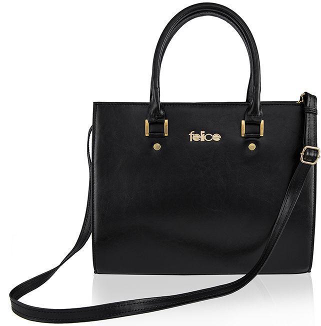 Кожаная женская сумка Felice Gatto Black, 12 л