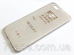 Чехол для Xiaomi Mi A1 / Mi 5X силиконовый ультратонкий прозрачный серый
