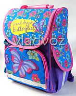 Школьный каркасный рюкзак для девочек бабочки butterfly сиреневый