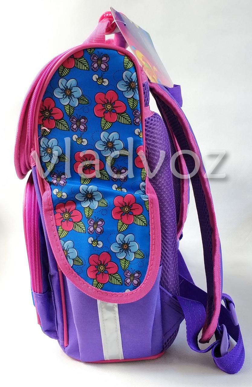 Школьный каркасный рюкзак для девочек butterfly сиреневый