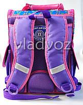 Школьный каркасный рюкзак для девочек бабочки butterfly сиреневый, фото 3