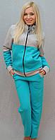 Тёплый женский спортивный костюм голубой, фото 1