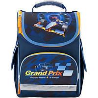 Ранец Kite K17-501S-6 синий школьный каркасный 501 Grand Prix