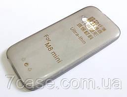 Чехол силиконовый ультратонкий для HTC One mini 2 (M8 mini) серый
