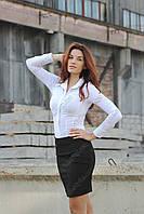 Юбка женская черная ,ткань - турецкий габардин (Спідниця жіноча чорна з габардину), фото 1