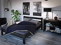 """Двуспальная деревянная кровать черная """"Дилайт"""""""