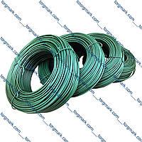Проволока (дріт) вязальная для теплиц в пвх оболочке D 1.6 - 2.6 мм (100 м. в мотке)
