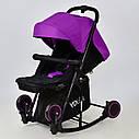 Коляска-качалкафиолетовая JOY Т 609 Violet  деткам от 1 до 3 лет, фото 4