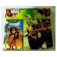 Альбом + Цветные карандаши №3685 Мадагаскар (альбом (21*14,5) 60 листов + Цветные карандаши 12 цветов)
