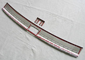 Skoda Kodiaq накладка защитная на задний бампер внутрення тип B, фото 2