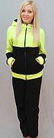 Тёплый женский спортивный костюм салат, фото 1