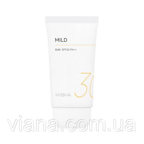 Мягкий солнцезащитный крем Missha All Around Safe Block Mild Sun SPF30