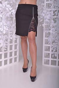 Женская юбка большого размера с кружевом 50-60 р