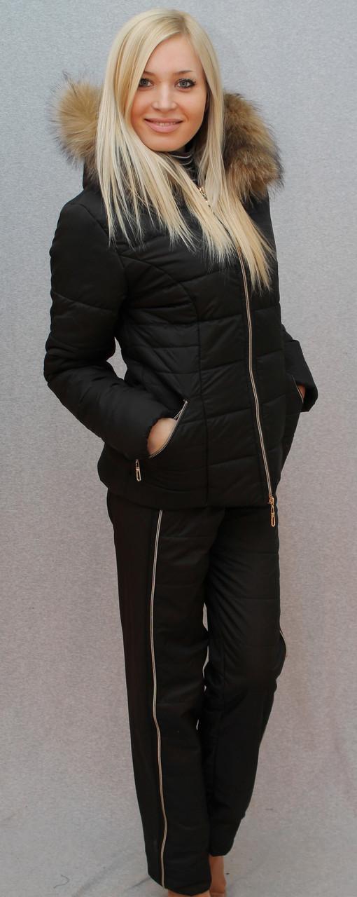 Костюм зимний чёрный