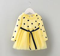 Сукня Горошок фатином (жовтий) 80