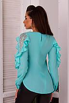 """Нарядная женская блуза """"POLER"""" с воланами и длинным рукавом (4 цвета), фото 3"""
