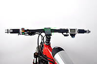 Красный электровелосипед на толстых колесах Ультра байк BMW мощность элеткродвигателя 500 ВТ