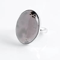 Агат халцедон, 25*18 мм., серебро 925, кольцо, 902КХ