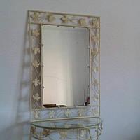 Кованное зеркало большое бежевое, фото 1