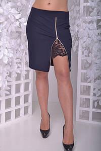 Юбка женская с кружевом большого размера 50-60 р
