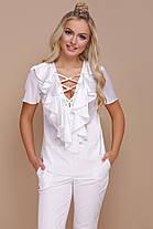 блузка женская шелковая с коротким рукавом, фото 2