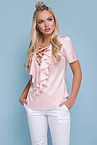 блузка женская шелковая с коротким рукавом, фото 3