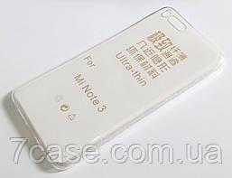Чехол для Xiaomi Mi Note 3 силиконовый ультратонкий прозрачный