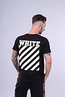Футболка мужская черная OFF-WHITE (бирк. есть) реплика