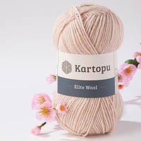 Пряжа Kartopu Elite Wool 855 светлый беж (Картопу Элит Вул)
