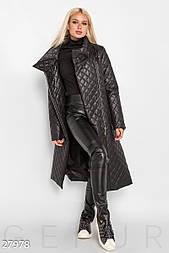 Осеннее стеганое пальто