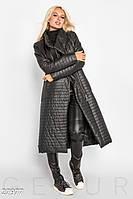 Длинное стеганое пальто