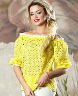 Женская летняя блузка с открытыми плечами (2138-2136-2137-2140 svt)