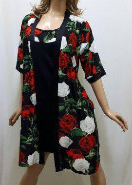 Комплект халат и ночная рубашка с розами от 44 до 50 р-ра,Харьков, фото 2