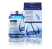 Farm Stay Collagen & Hyaluronic Acid All-In-One Ampoule Cыворотка с коллагеном и гиалуроновой кислотой 250 г